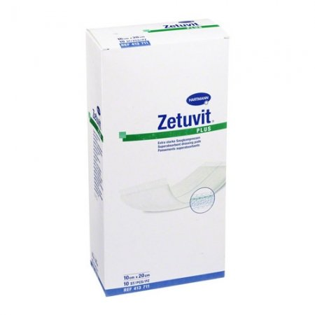Zetuvit Plus Non Adherent Dressing 10cm x 20cm Box of 10