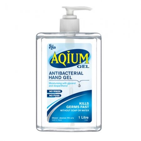 Aqium Antibacterial Hand Gel 1000ml Pump Bottle