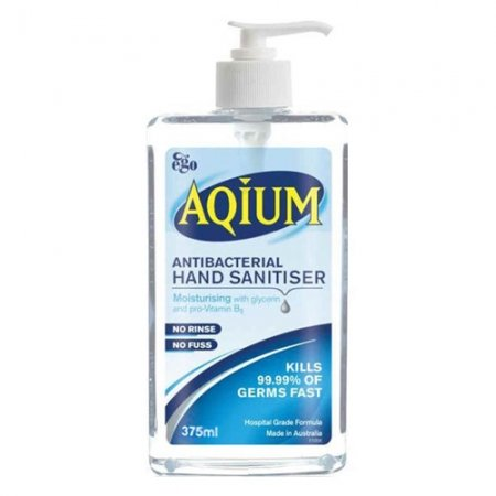 Aqium Antibacterial Hand Gel 375ml Pump Bottle