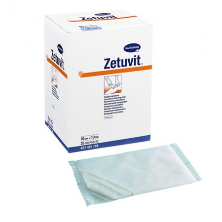 Zetuvit Non Adherent Absorbent Dressing 10cm X 10cm Box Of