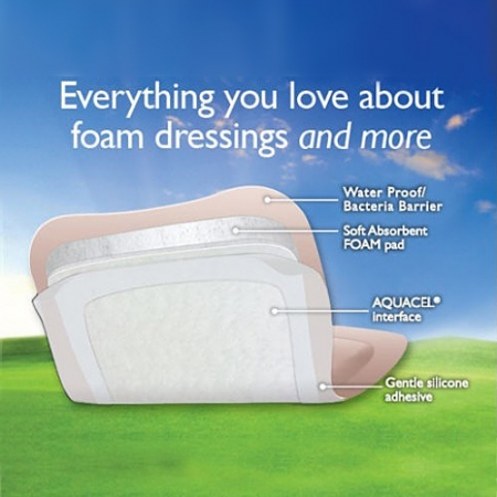 Aquacel Border Foam Dressing 8cm x 8cm Box of 10