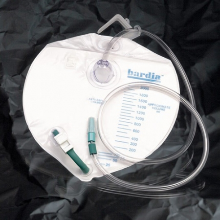 Bard Drain Bag Sterile 120cm Tube Lever Tap 4000ml Pack of 10