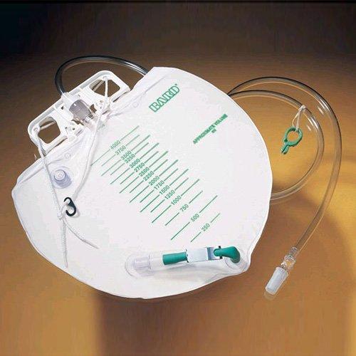 Bard Drain Bag Sterile Urine Meter 2000ml Lever Tap Pack