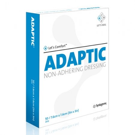 Adaptic Non-Adherent Dressing 7.6 cm x 7.6 cm Box of 50