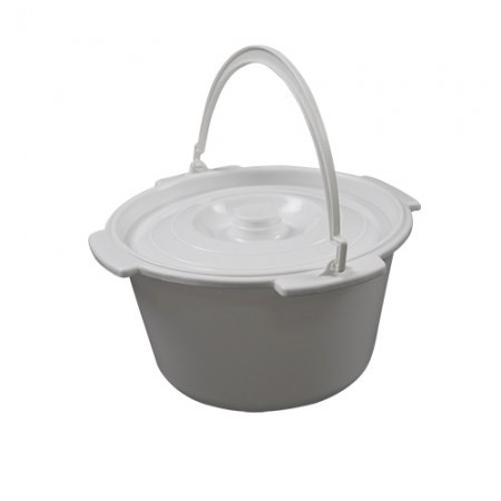 Commode Pan with lid and handle