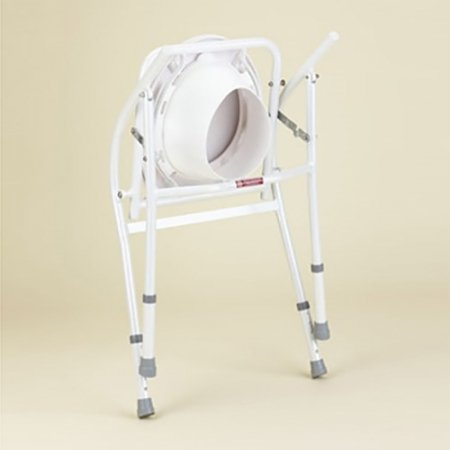 Over Toilet Frame Folding Adjustable Height with Splashguard