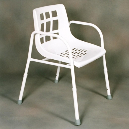 Shower Chair Aluminium Adjustable Height with Arms