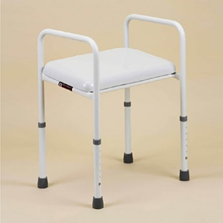 Shower Stool Adjustable Height Padded Seat