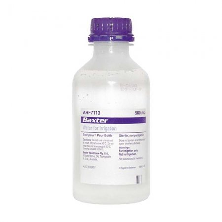 Water For Irrigation Sterile 500ml Pour Bottle
