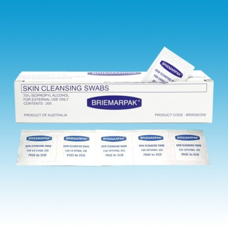 Alcohol Wipes Skin Cleansing Swabs