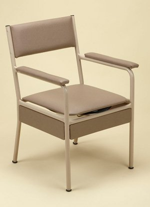 Commode Chair Overwide Adjustable Height Padded Arms Ahns
