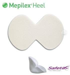 Mepilex Heel Dressing Silicone Foam 13cm X 20cm Shaped Box
